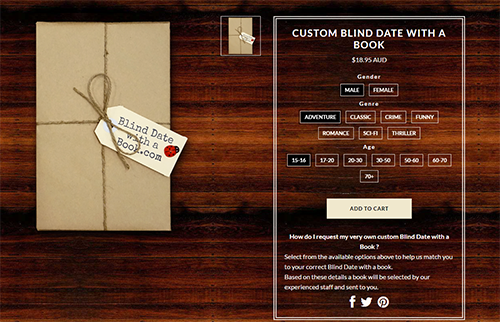 CUSTOM BLIND DATE WITH A BOOK